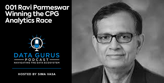 Ravi Parmeswar Winning the CPG Analytics Race Data Gurus Podcast