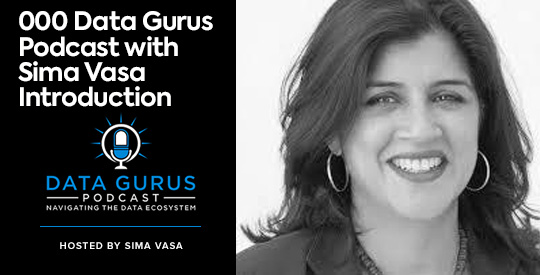 Data Gurus Podcast with Sima Vasa Introduction